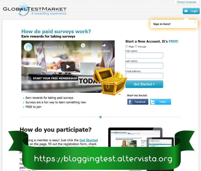 Cómo ganar dinero a través de GlobalTestMarket, guía