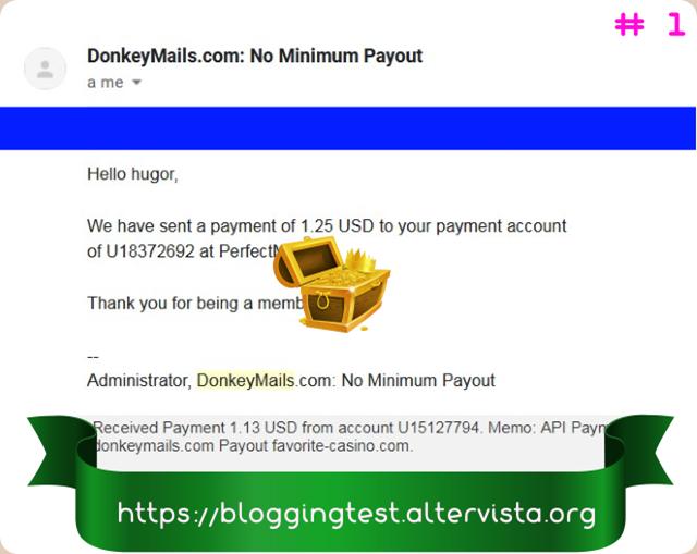 Comprobantes de pago de DonkeyMails una página veterana y fiable que paga regularmente. Donkeymails-email-de-pago-y-pago-recibido-_1_thumb