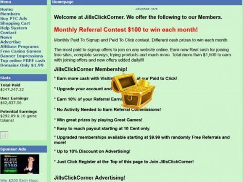 Cómo ganar dinero a través de JillsClickCorner, guía completa, estrategia y trucos.