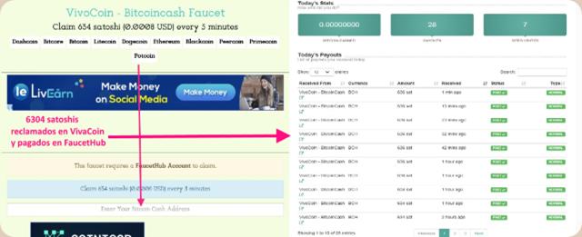 VivaCoin-Bitcoin-Cash-collage-reclamos-y-pagos-en-FaucetHub