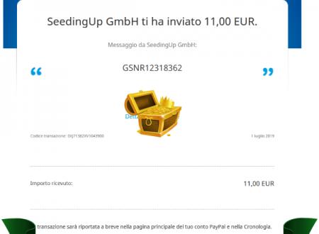 Comprobantes de Pago de SeedingUp excelente página para ganar dinero como Influencer.