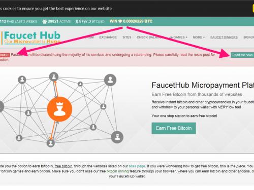 FaucetHub cierra debido a las nuevas regulaciones legales en el mercado de las criptomonedas.